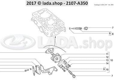 C7 Adjustment screws for idle running