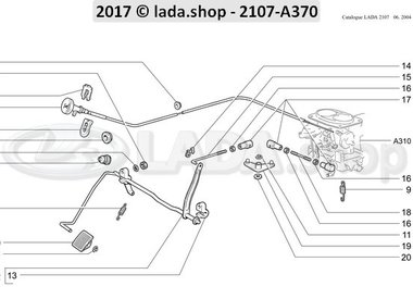 C7 Gaspedaal aandrijving
