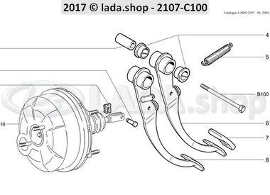 C7 Pedal del freno