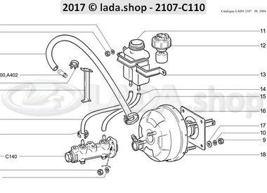 C7 Hauptteile des Bremsantriebs