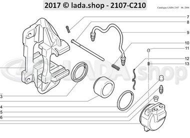 C7 Pinças de freios dianteiros