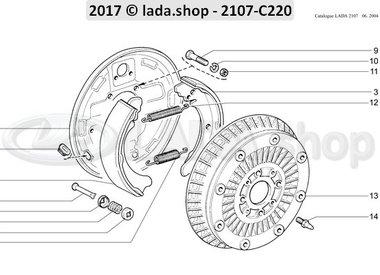 C7 Hinterradbremse