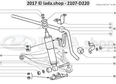 C7 Amortiguadores y estabilizador trasversal