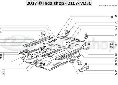 C7 Piso de la carrocería delantero