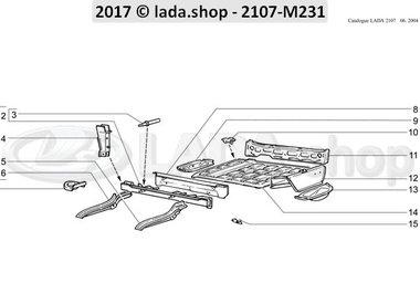 C7 Piso de la carrocería trasero