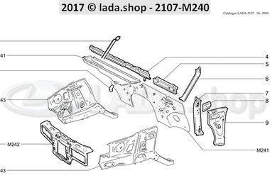 C7 Componentes internos da frente