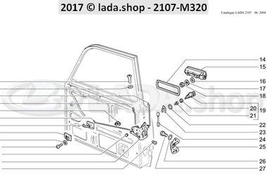 C7 Cerraduras y manijas de las puertas delanteras