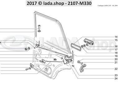 C7 Fechaduras de porta traseira e alças