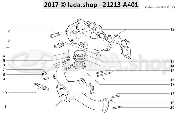 LADA 2101-1008082, Parafuso Prisioneiro