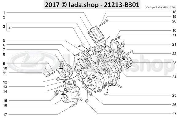LADA 0000-1001500021, Espargos M6X12