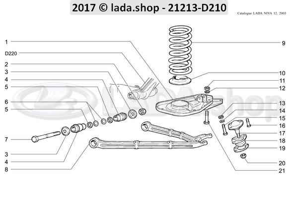 LADA 0000-1002574811, Self-locking nut M14x1.5