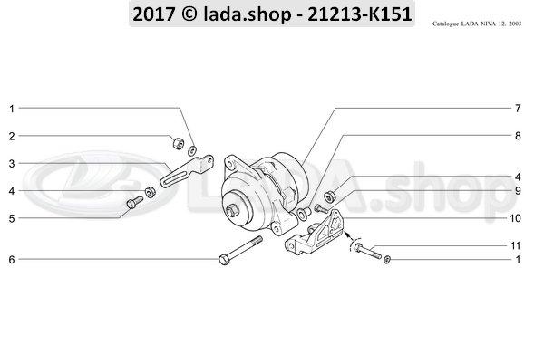 LADA 0000-1005970521, Parafuso M10X1.25 X 20