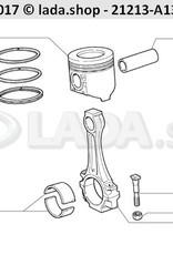 LADA 2101-1000104-13, Set van grote einde lagerschalen 0.75 mm