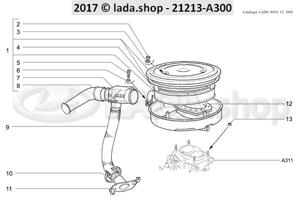 LADA 0000-1000519501, Washer 7