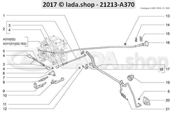 LADA 2101-1108014-10, Gaspedal