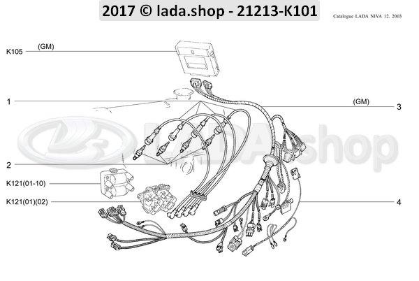 Cavo Di Accensione Set LADA NIVA 21214 euro fino a 2-21214-3707080