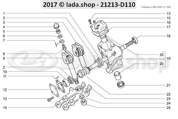 LADA 0000-1000791211, Thin nut M12x1.5