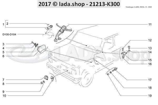 LADA 0000-1000791211, Dunne moer M12x1.5