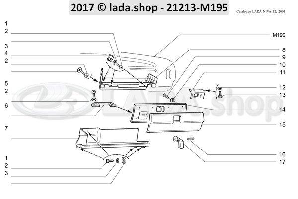 LADA 21213-5303034, scharnier koppeling