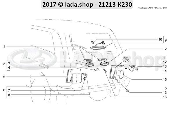 LADA 0000-1000615471, Arandela 6 de fijacion
