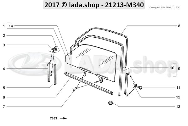 LADA 0000-1004778101, schroef M6x8