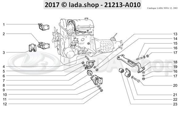 LADA 0000-1003516621, Espargos M8X16