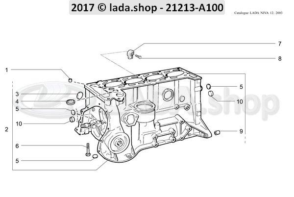LADA 0000-1004234330, Tornillo M10x1.25x65