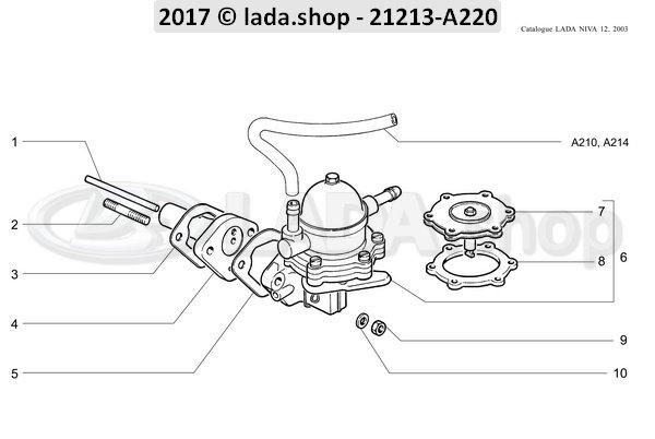 LADA NIVA//4x4 2121 VAZ 2101-2107 Fuel pump 2101-1106010 Kraftstoffpumpe
