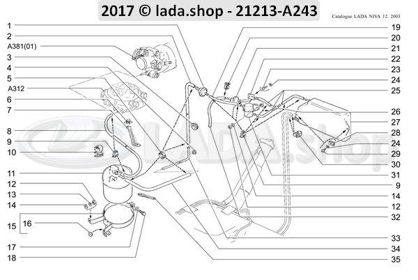LADA 21214-1164086, Manguera 900 mm
