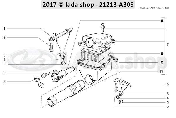 LADA 21214-1109360, End piece. hose
