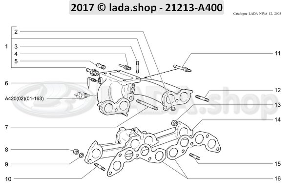 LADA 2101-1008025-10, Auspuffkruemmer Agr Niva