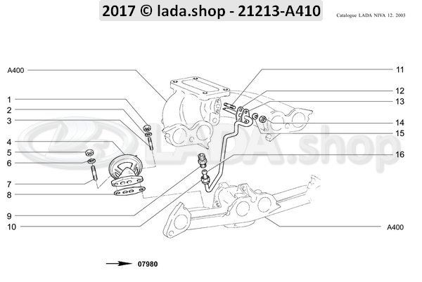 LADA 2105-1217040-10, Pijp. recirculatie