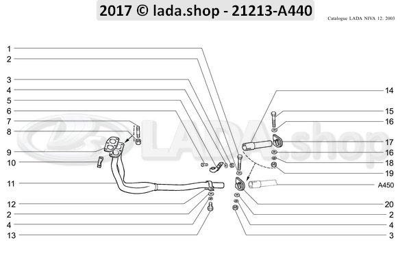 LADA 0000-1001947500, Bolt M8x25