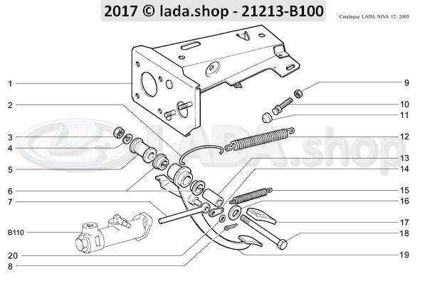 LADA 2101-1602100, Limiting screw