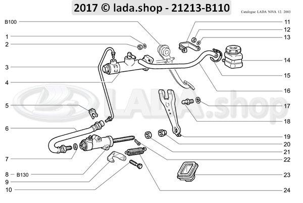 LADA 2101-1602510, Cilindro de mando de embrague