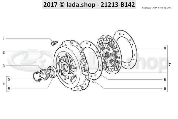 LADA 2106-1601000, Koppeling schijven set