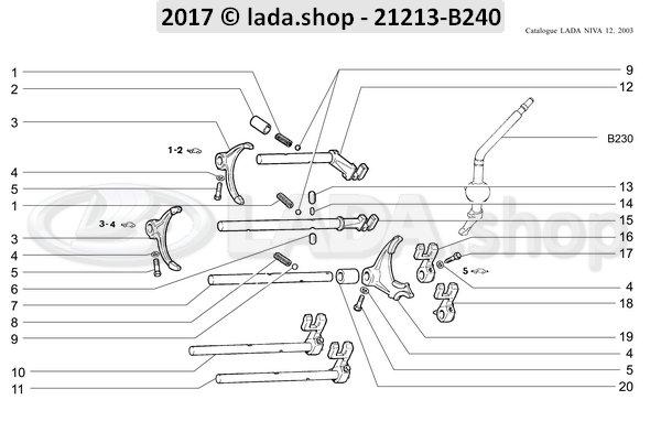 LADA 2101-1702071, 3e / 4e schakelstang