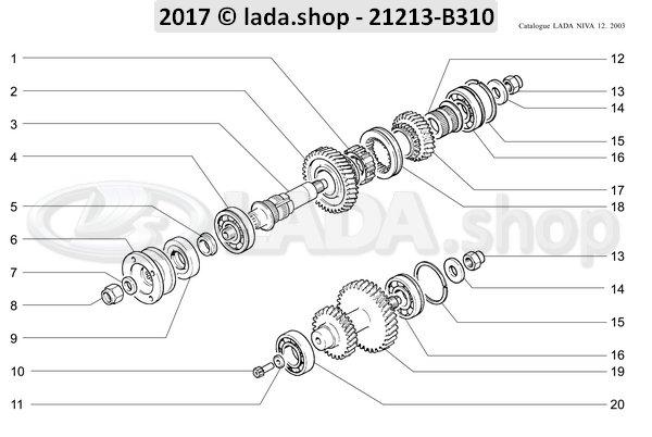LADA 2121-1802084-10, Layshaft Z 37 28 13