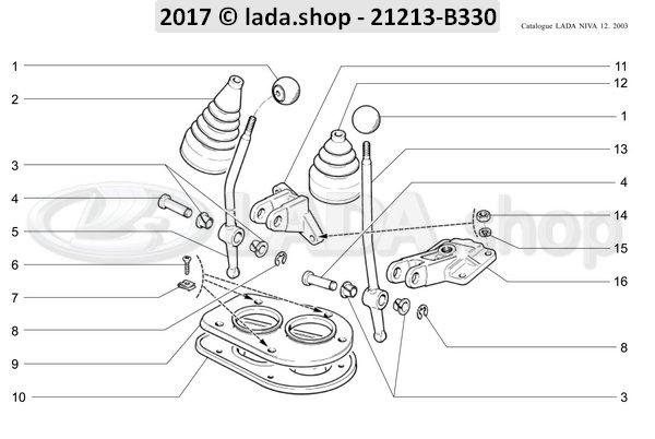 LADA 21213-1804124, Funda de la palanca de bloqueo