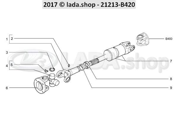 LADA 2101-2202115, Retainer. oliekeerringen