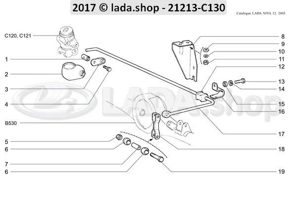 LADA 2101-3512116-01, Shaft. bedieningsstang
