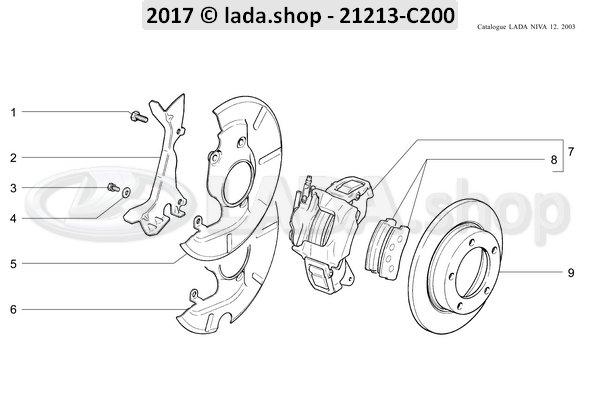 LADA 2121-3501800-82, Brake pad set (4) Lada Niva 4x4