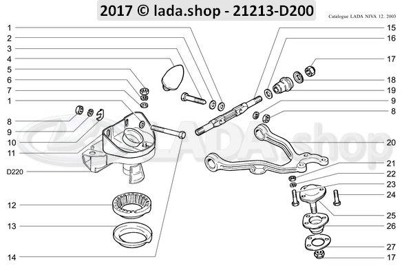 LADA 2121-2904242, Bracket