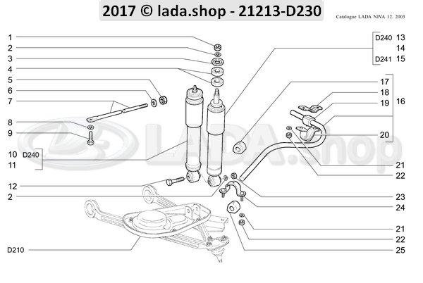 LADA 2121-2906052, Collar del cojin