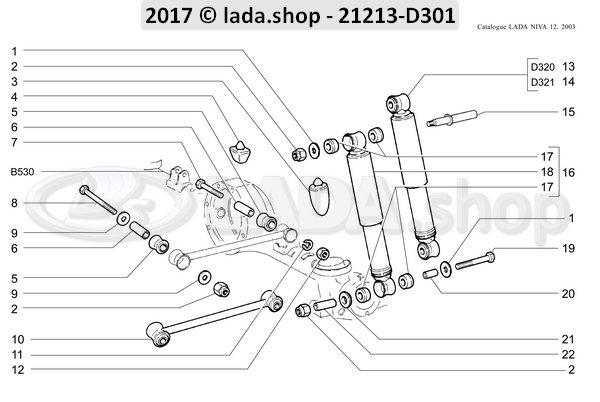 LADA 0000-1006105011, Zelfborgende moer M12x1.25