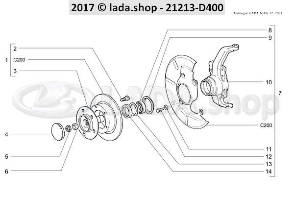 LADA 2121-3103014-82, Hub.Roadwheel Frente z=22