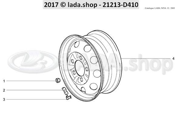 LADA 2101-3101301-60, Peso de rueda de 60 gm
