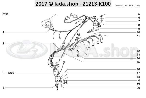 LADA 2101-3706700, Pakking