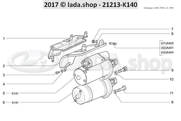 LADA 0000-1003826821, Parafuso M8x45