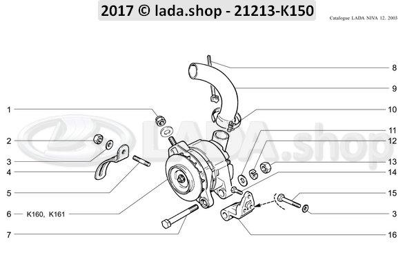 LADA 0000-1003546121, Stud M10x1.25x20